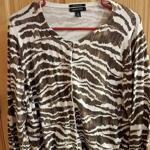 Zebra print sweater!
